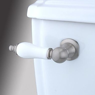 Elements of Design Made to Match Decorative Porcelain Tank Lever Arm; Satin Nickel