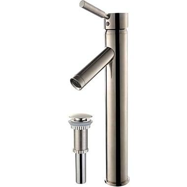 Kraus Sheven Single Hole Single Handle Bathroom Faucet w/ Drain Assembly; Satin Nickel