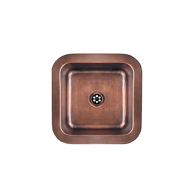 Whitehaus Collection Copperhaus 15'' x 15'' Square Drop-In / Undermount Bar Sink