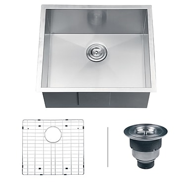 Ruvati Nesta 23'' x 18'' Undermount Single Bowl Kitchen Sink