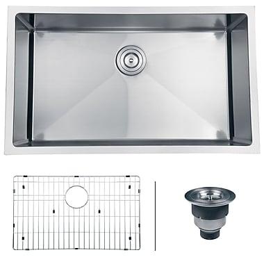 Ruvati Gravena 32'' x 19'' Undermount Single Bowl Kitchen Sink