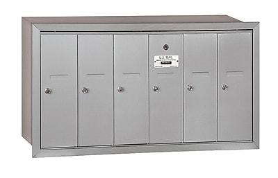 Salsbury Industries 6 Door Front Load Vertical Mail Center; Aluminum
