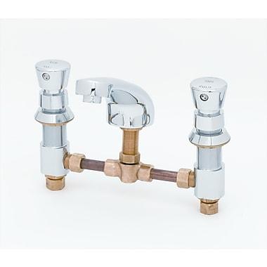 T&S Brass Widespread Bathroom Faucet w/ Push Handle