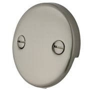 Elements of Design 2 Hole Round Plate w/ Screw; Satin Nickel