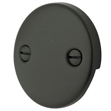 Elements of Design 2 Hole Round Plate w/ Screw; Oil Rubbed Bronze