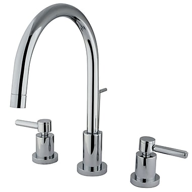 Elements of Design Concord Double Handle Single Hole Widespread Bathroom Faucet; Polished Chrome