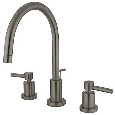 Elements of Design Concord Double Handle Single Hole Widespread Bathroom Faucet; Satin Nickel