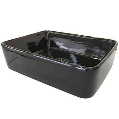 Elements of Design French Petite Rectangular Vessel Bathroom Sink; Black