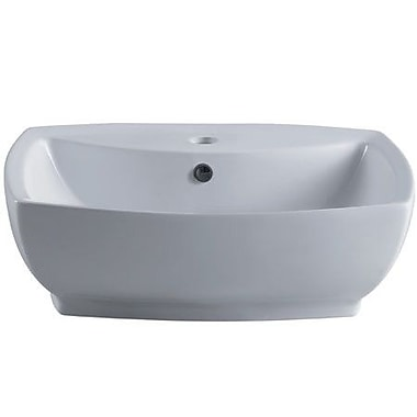 Elements of Design Marquis China Rectangular Vessel Bathroom Sink w/ Overflow