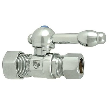 Elements of Design Decorative Quarter Turn Valves w/ Knight Lever Handles; Polished Chrome
