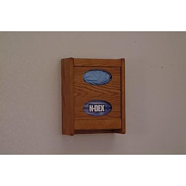 Wooden Mallet Tissue Box Cover; Medium Oak