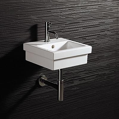 Bissonnet Area Boutique Ceramic Rectangular Drop-In Bathroom Sink w/ Overflow