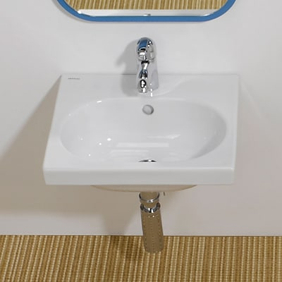 Bissonnet Traffic Ceramic 17'' Wall Mount Bathroom Sink w/ Overflow