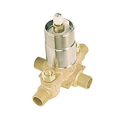 Aqueous Faucet Rough-in Tub Valve and Shower Pressure Balance Valve w/ Integral Stop
