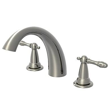 Aqueous Faucet Lady Chelsea Double Handle Deck Mount Roman Tub Faucet Lever Handle; Chrome