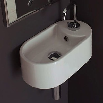 Scarabeo by Nameeks Seventy Ceramic 17'' Wall Mount Bathroom Sink w/ Overflow