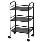 Alvin and Co. Storage Cart 29.75'' 3 Shelf Shelving Unit; Black