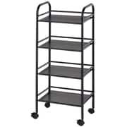 Alvin and Co. Storage Cart 29.75'' H 4 Shelf Shelving Unit; Black