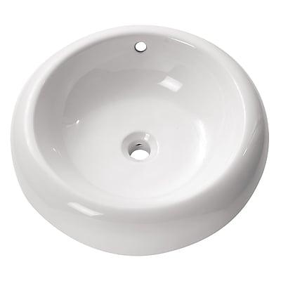 Avanity Ceramic Circular Vessel Bathroom Sink w/ Overflow