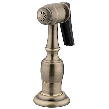 Elements of Design Brass Kitchen Side Sprayer w/ Hose; Satin Nickel