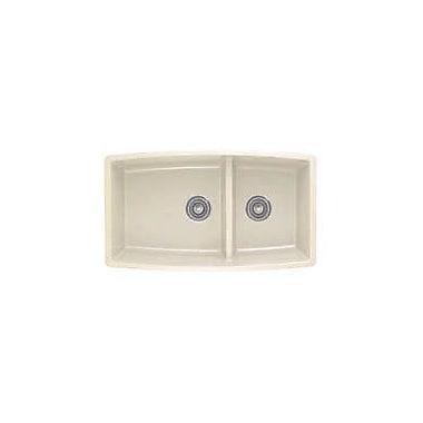 Blanco Performa 33'' x 19'' 2 Basin Undermount Kitchen Sink; Biscuit