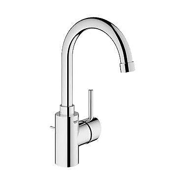 Grohe Concetto Single Handle Single Hole Bathroom Faucet; Brushed Nickel