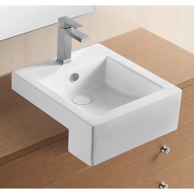 Caracalla Ceramica II Ceramic Rectangular Vessel Bathroom Sink w/ Overflow