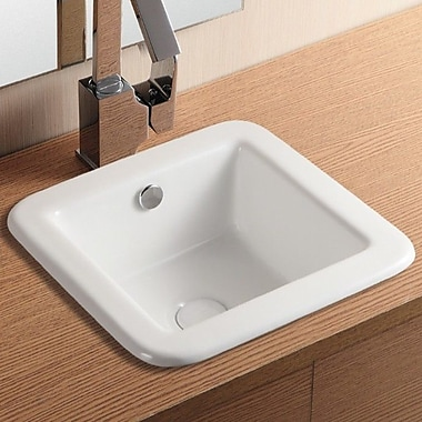 Caracalla Ceramica II Self Rimming Bathroom Sink