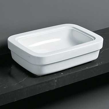 Bissonnet Leavitt Evo Rectangular Vessel Bathroom Sink w/ Overflow