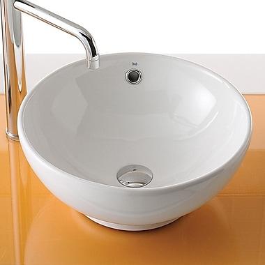 Bissonnet Universal Ceramic Circular Vessel Bathroom Sink w/ Overflow