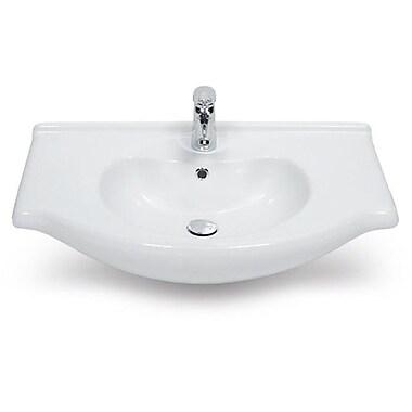 CeraStyle by Nameeks Nil Ceramic 22'' Wall Mount Bathroom Sink w/ Overflow