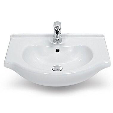 CeraStyle by Nameeks Nil Ceramic 17'' Wall Mounted Bathroom Sink w/ Overflow