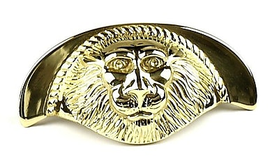 Century Hardware Roman Cup/Bin Pull; Polished Brass WYF078276277405