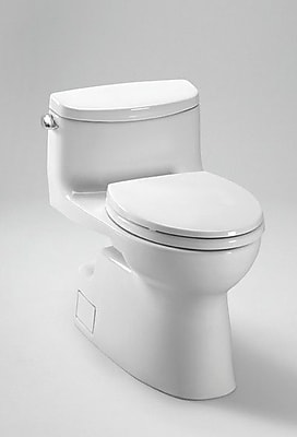 Toto Carolina II High Efficiency 1.28 GPF Elongated One-Piece Toilet; Cotton