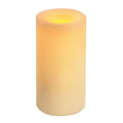 Inglow Wax Flameless Round Pillar Vanilla Scented Candle with Timer 6