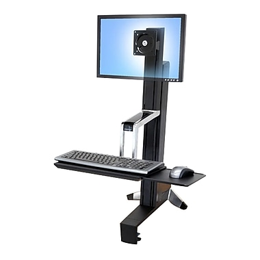 Ergotron® WorkFit-S Single LCD Display Stand, Black