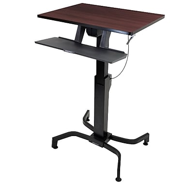 Ergotron® 24-280-927 WorkFit-PD, Sit-Stand Desk, Walnut