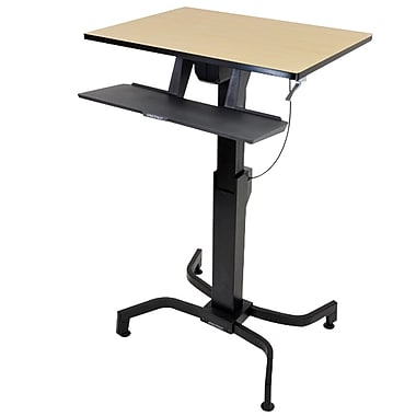 Ergotron® 24-280-928 WorkFit-PD, Sit-Stand Desk, Birch