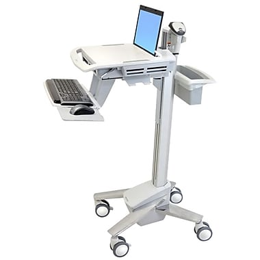 Ergotron® Styleview EMR Laptop Cart, Grey/White