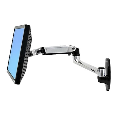 Ergotron® LX 45-243-026 Wall Mount LCD Arm, Up to 24