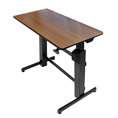 Ergotron® 24-271-927 Workfit-D Surface Sit-Stand Desk, Walnut