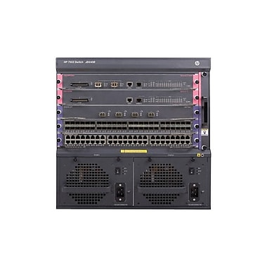 HP® 7503 Manageable Switch Chassis With 48-Port Gig-T PoE+ Module and 384Gbps MPU