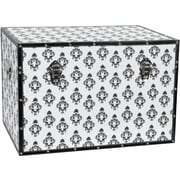 Oriental Furniture Damask Storage Trunk; White
