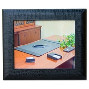 Dacasso 2000 Series Crocodile Embossed Leather Picture Frame; Black