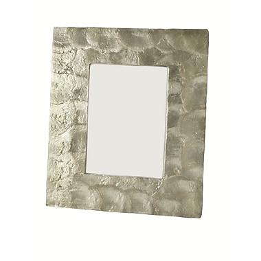 Dekorasyon Capiz Picture Frame; 4'' x 6''