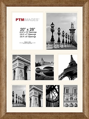 PTM Images Photo Collage Picture Frame; Champagne