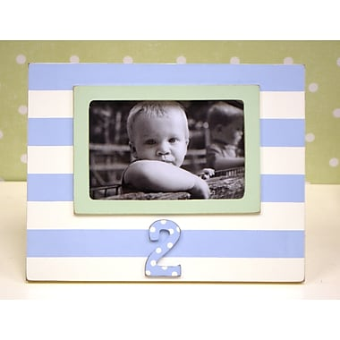 New Arrivals Stripe 2nd Birthday Picture Frame; Blue / Green