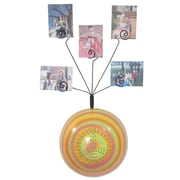 Metrotex Designs Girly Chic Tie Dye Peace Sign Wall Photo Bubble; Yellow
