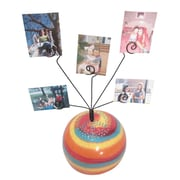 Metrotex Designs Girly Chic Tie Dye Peace Sign Table Photo Bubble; Red