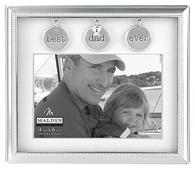 Malden Dad Metal Charms Picture Frame